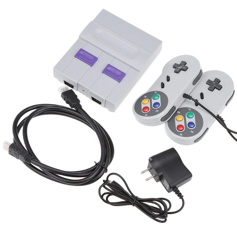 Mini HD HDMI TV Video Game Console Handheld Retro Family Game Console Built-In 821 Classic Game Player for SNES Dual Gamepad