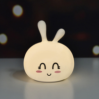 1 PC Cute LED Night Light Rabbit Shaped Silicon Lamp Color Changing Light For Children Gift Bedroom Living Room Decoration