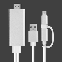2 in 1 Micro USB to HDMI Cable for Samsung A7 J5 HDMI Converter for Lightning to HDMI Cable for iPhone X 8 6 Digital AV Adapter