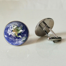 цена Earth Glass Cufflinks Beautiful Earth Cufflinks Handmade Photo Cufflinks Protect Earth Cufflinks Arrive to the earth онлайн в 2017 году