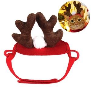 Christmas Dog Headbands Antler