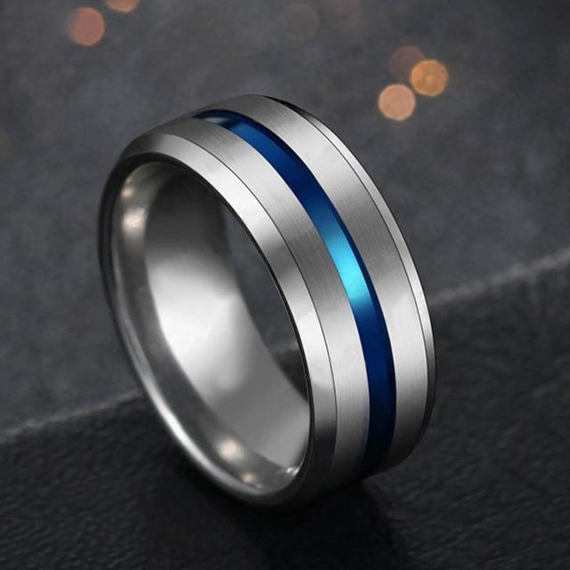 טבעת מטיטניום הכולל פס צבעוני 3