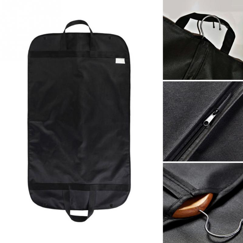 Folded Anti-dust Clothes Cover Garment Bag 60*100cm Suit Dress Storage Protector Black Travel Carrier Drop Shipping