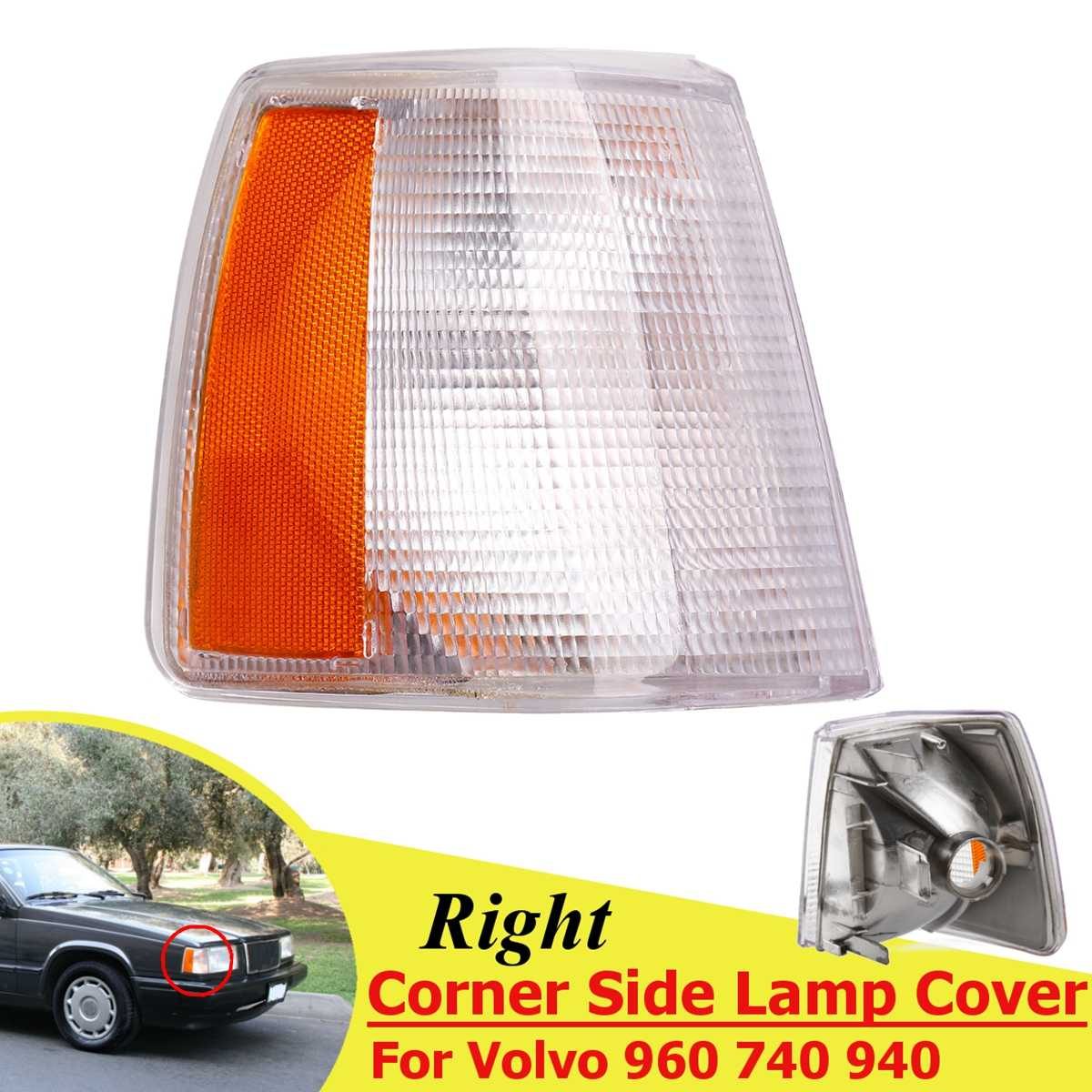 1-Pair Volvo Replacement Corner Light Unit