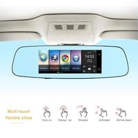 7 inch IPS Touch Screen 4G Car Rear View Mirror DVR Camera Video Recorder Dual Lens Automobile Video Recorder Dash Cam