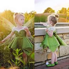 2019 Princess Beautiful Party Prom Birthday Dress Baby Girl Kids Shiny Hot New Fairy Glisten Irregular For Girls