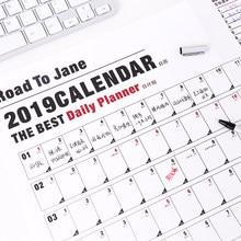 Office & School Supplies 2019 Jährlich Mit Aufkleber Punkte Poster Stil Veranstalter Studie Agenda Papier Jährliche Zeitplan Wand Planer Kalender Schreibwaren Büro Kalender