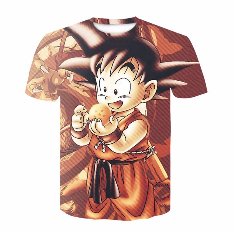 2019 Dragon Ball Super Saiyan Goku 3D Printed T-shirt Cosplay Costume Men's Harajuku Hip Hop O-Neck Short Sleeve T Shirt