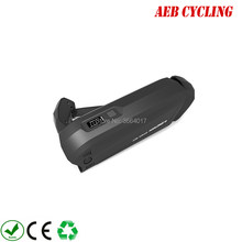 Free shipping Plastic case Hailong-2 down tube ebike battery case 40 Pcs 18650 cells ebike battery shark case for city bike(China)