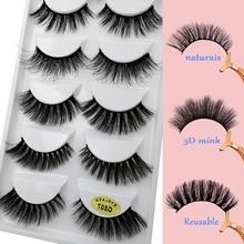 YSDO 5 Pairs mix style false eyelashes fluffy thick winged lashes faux cilios fake makeup all hand made