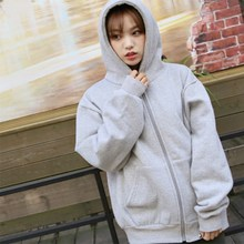 hot deal buy autumn winter women hoodies coat solid thick zipper warm hoodies sweatshirts loose long sleeve hooded sweatshirt