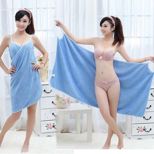 2019 Thời Trang Phụ Nữ Cô Gái Mặc Nhanh Chóng Làm Khô Ma Thuật Khăn Tắm Bãi Biển Spa Áo Choàng Tắm Áo Choàng Tắm Váy