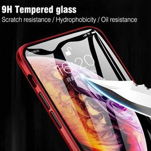 Image 3 - ل iphone 8 7 زائد iphone X XS ماكس XR جراب هاتف 360 غطاء كوكه الفاخرة جهين الجبهة + اضح عودة الزجاج المعادن المغناطيسي حالة