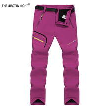 THE ARCTIC LIGHT Women Winter Inner Fleece Soft shell Trekking Hiking Pants Outdoor Sports Thermal Skiing Female Trousers