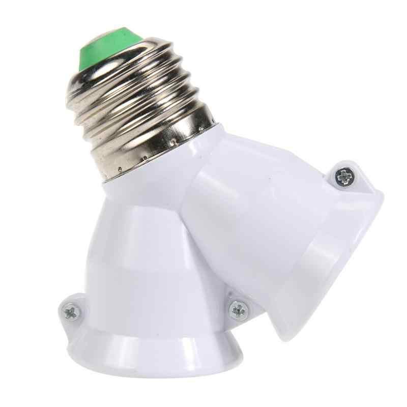 2 trong 1 E27 đèn Chất Liệu Chống Cháy Giá Đỡ Y Hình Bóng Đèn Bộ chuyển đổi Ổ Cắm 2E27 Bộ Chia Bộ Chuyển Đổi Ánh Sáng đế Giá Đỡ