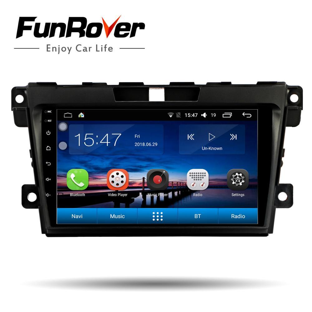 Lecteur multimédia de voiture Funrover 2 din android 8.0 radio stéréo dvd de voiture pour Mazda CX7 CX 7 CX-7 2008-2015 audio gps navigation FM