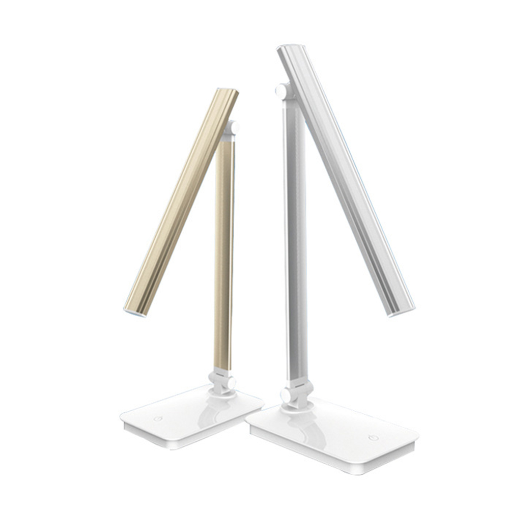 Aluminum Alloy LED Desk Lamp Touch Switch 3 Light Color Eye Protection Reading Led Light Foldable Rechargeable USB Table Lamps