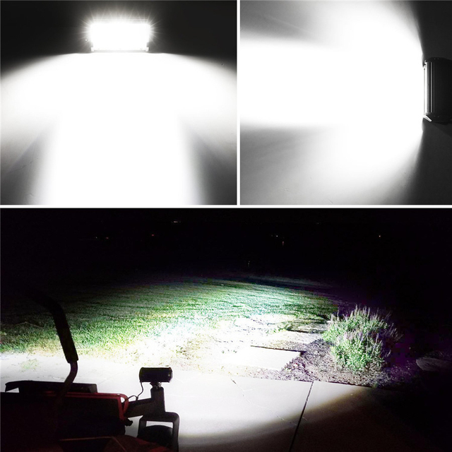 Универсальный трехрядный светодиодный светильник 45 дюймов 450
