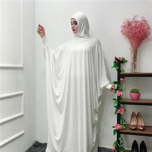 Image 5 - Femmes musulman aérien Jilbab Robe Hijab Abaya prière Farasha Robe islamique Maxi Robe manches chauve souris décontracté arabe Robe Ramadan