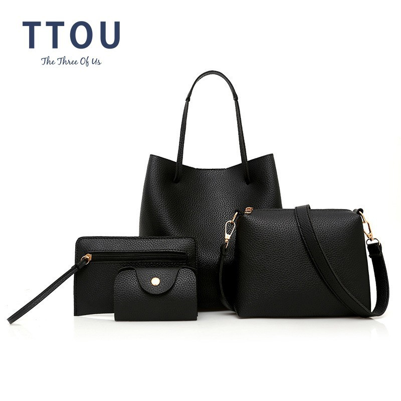 TTOU Fashion 4pcs/set Women Handbag Quality Leather Female Shoulder Bags Ladies' Messenger Crossbody Composite Bag Bolso Mujer