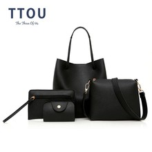 TTOU Fashion 4pcs/set Women Handbag Quality Leather Female Shoulder Ba