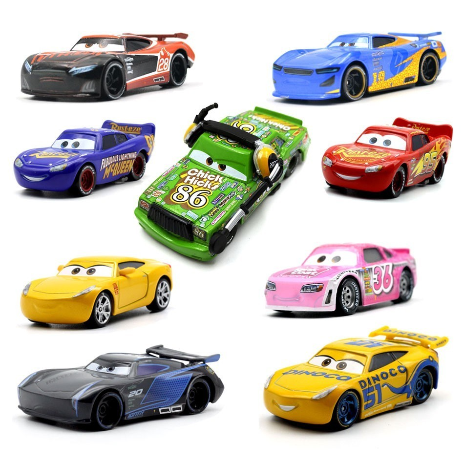 27 Style Disney Pixar Cars 3 New Lightning McQueen Jackson Storm Diecast Metal Toy Car Model Birthday Gift Toy For Kid Boy in Diecasts Toy Vehicles from Toys Hobbies
