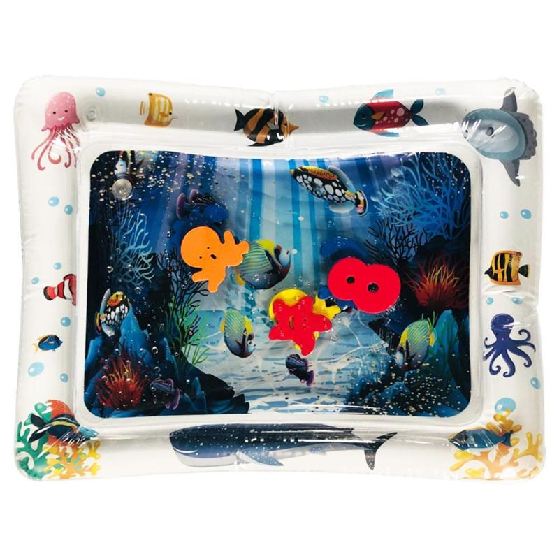 Kids Water Play Mat Inflatable Thicken PVC Infant Tummy Time Playmat Toddler Fun Activity Play Center Water Mat For Children