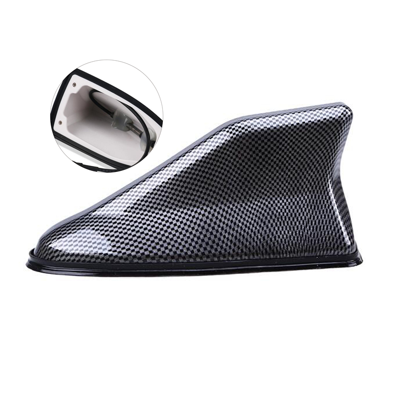 Car Shark Fin Antenna Radio Signal Aerial Auto SUV Truck Van Car styling Carbon Fiber Universal in Aerials from Automobiles Motorcycles