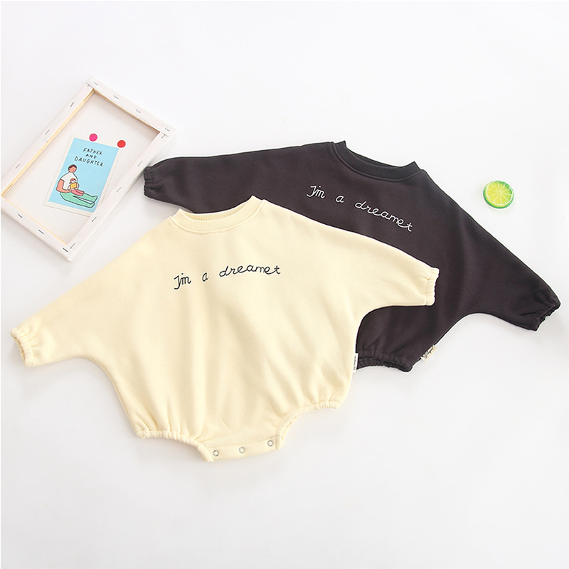2019 New spring baby bat-sleeve printed fashion cotton sweater for boys  girls with extra fleece thickness2019 New spring baby bat-sleeve printed fashion cotton sweater for boys  girls with extra fleece thickness
