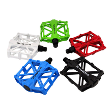 Aluminum Alloy Bicycle Pedal Cycling MTB Mountain Bike Road Bicycle Flat Bearing Pedals Bicycle Accessories 5 Colors стоимость