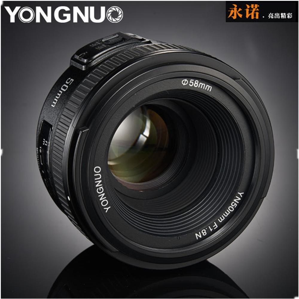 лучшая цена Original YONGNUO Lens YN50 mm YN50mm F1.8 Camera Lens for Canon Canon EF for Nikon Nikon F DLSR Camera Lens