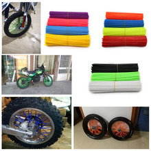 72 Pcs Universal Motorcycle Dirt Bike Enduro Off Road Rim Wheel Spoke Skins For Honda Crf 450 CR CRF XR XL KTM KAWASAKI YAMAHA