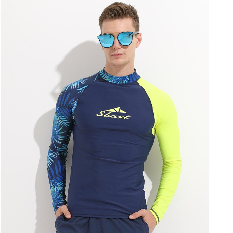 2e10b8cf4d Men Rash Guard Long Sleeve Swimsuit Swim Shirt UV Protect Rashguard Mens Swimming  Suit Windsurf Diving T-shirt Surf Clothes