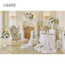 Laeacco Palace Gothic Interior Fireplace Armchair Photography Backgrounds Customized Photographic Backdrops For Photo Studio