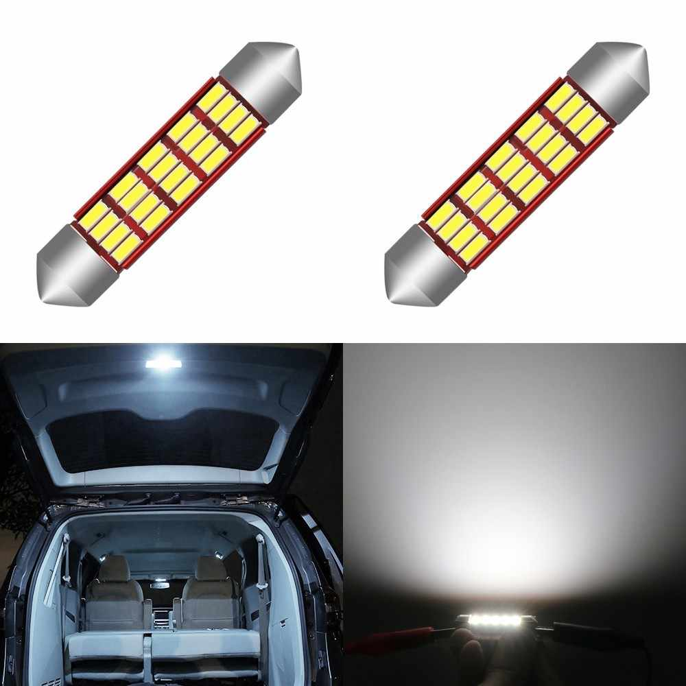1 Piece LED Bulb Light C5W Error Free 31 36mm 39mm 42mm Festoon C10W 4014 SMD  Auto Car Styling  Interior External Lights Canbus