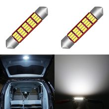 1 Piece LED Bulb Light C5W Error Free 31 36mm 39mm 42mm Festoon C10W 4014 SMD Auto Car Styling Interior External Lights Canbus(China)