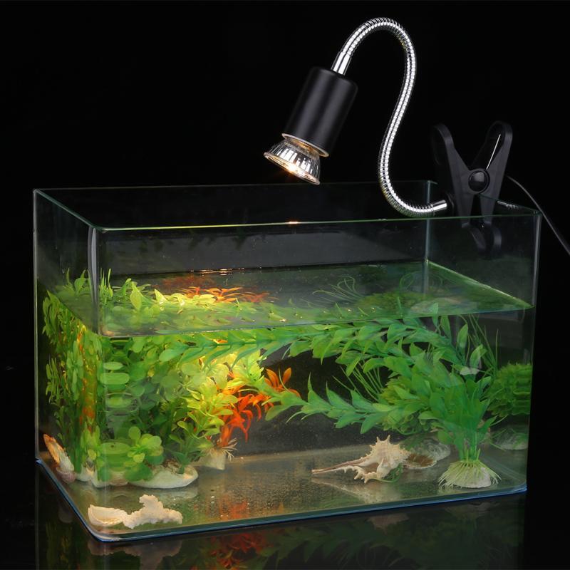 LED AC 12V Adjustable Heating Light Aquarium Pet Heat Light Holder Aquarium Clamp Lamp Fixture For Reptile Turtles