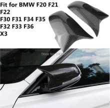 купить For BMW F30 F32 F33 F20 F22 F23 F36 X1 Mirror M3 M4 Look Rear View Mirror Cover For F20 F30 F22 F36 F23 F87 M2 R+L по цене 2006.04 рублей