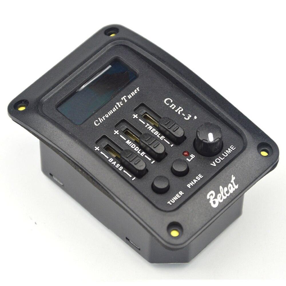 Belcat CnR-3 3 bandes EQ guitare pick & Tuner basse moyenne aigus 3 bandes égaliseur guitare préampli avec écran LCD coloré de Phase