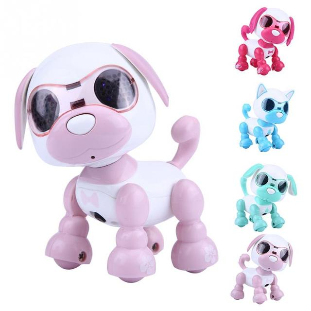 Kid Toy Child Robot Dog Pet Toy Interactive Smart Kids Robotic Pet Dog Walking LED Eyes Sound Puppy Record Educational Toy Gifts