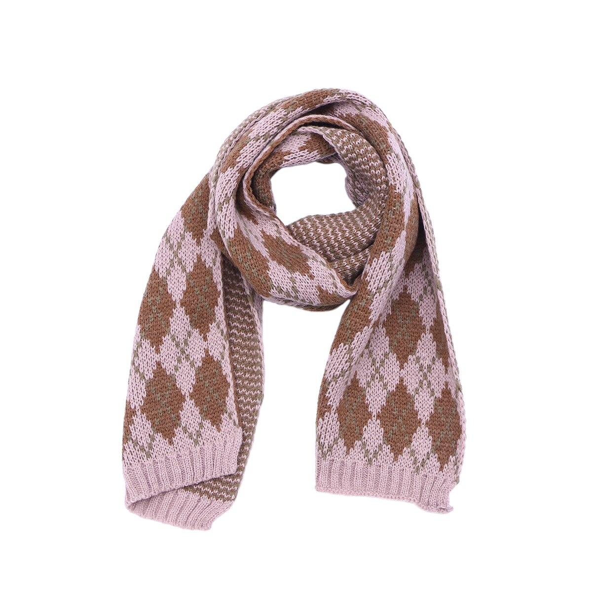 1 Pc Kinder Winter Schals England Stil Vintage Warme Allgleiches Gestrickte Schal Halstuch Für Mädchen Kinder Kinder Jungen Babys