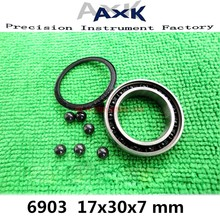 2021 Limited 6903 Hybride Keramische Lagers 17X30X7 Mm Abec-1 ( 1 Pc) fiets Bottom Beugels & Spares 6903rs Si3n4 Kogellagers