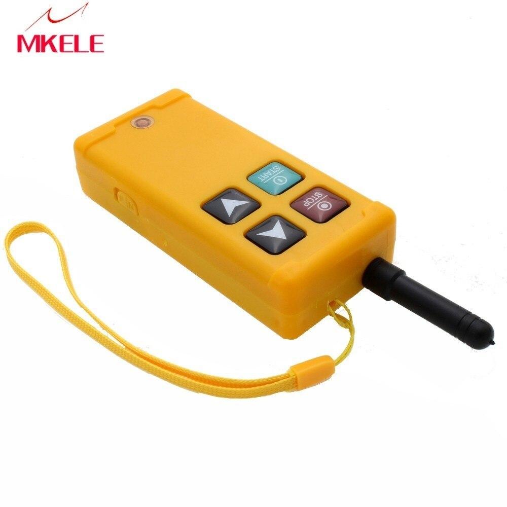 Industrial Hoist Wireless Radio Remote Controller Switch For Crane 1 Receiver 1 Transmitter AC220V 110V 380V 36V DC12V 24V in Switches from Lights Lighting