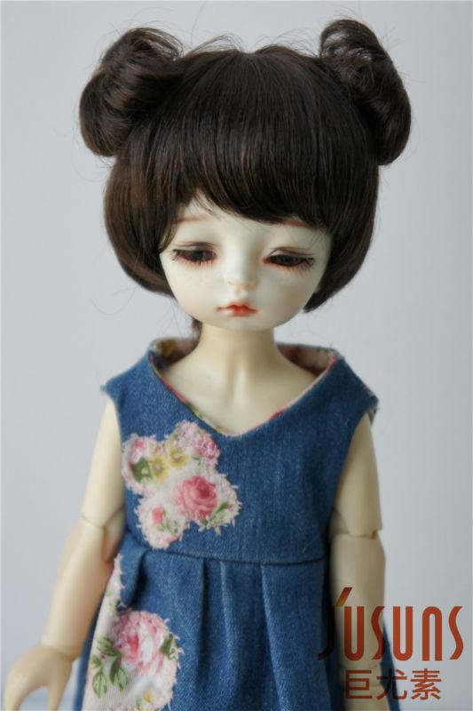 JD301 1/8 mohair sintético BJD muñeca peluca 5-6 pulgadas doble - Muñecas y peluches - foto 5