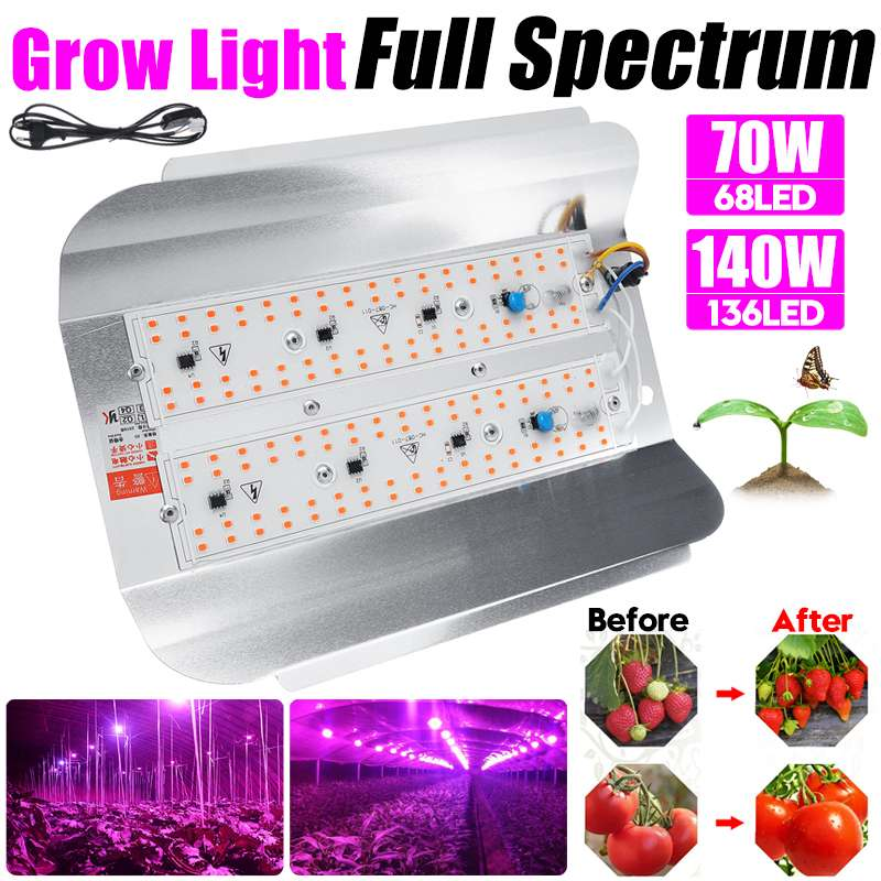 70W 140W High Power LED Grow Light Full spectrum Grow Lamp for Indoor Greenhouse Grow Tent Plants Grow Led Light Flood Lights