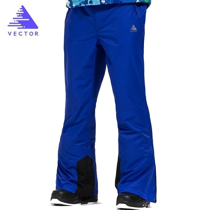 VECTOR Professional Skiing Pants For Men Windproof Waterproof Ski Snowboarding Pants Outdoor Winter Snow Trousers HXF70016