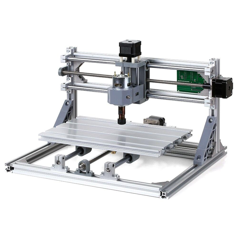 Bricolage CNC Kit de routeur 2-en-1 Mini Machine de gravure PCB PVC plastique acrylique sculpture sur bois fraiseuse Machine de gravure avec pince ER11