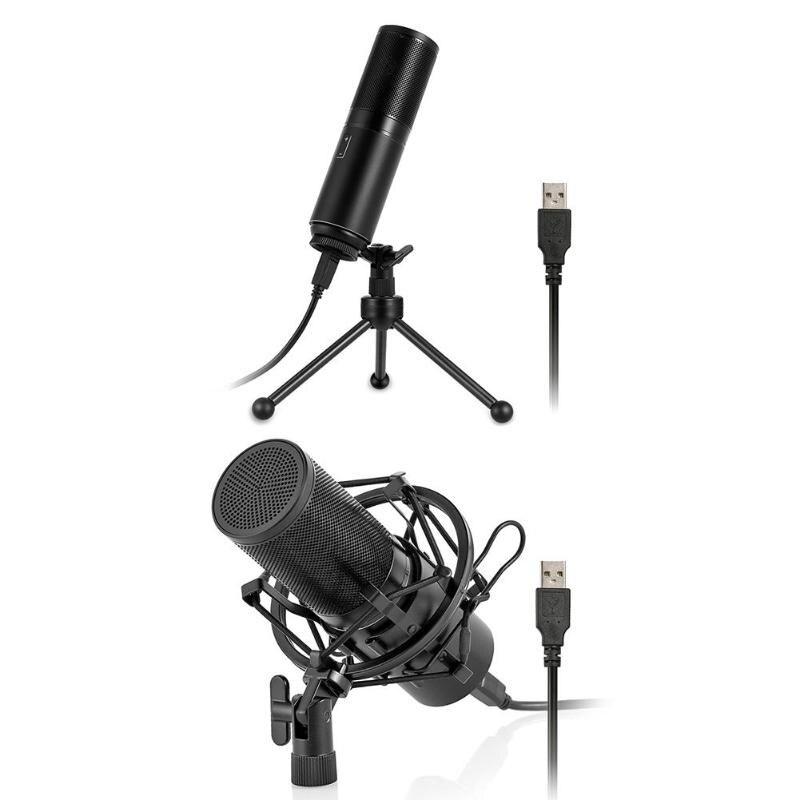 ALLOYSEED Q9 Ordinateur Microphone USB Filaire Condenseur À Son Unidirectivity Microphone avec le Mont pour Enregistrement Braodcasting