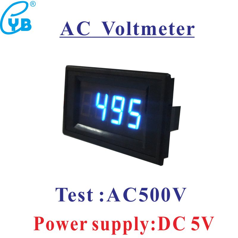 AC 0 500V LED Digital Voltmeter Voltage Panel Meter Volt