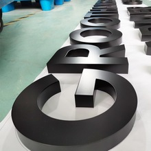 3D color stainless steel hotel room number channel letter sign